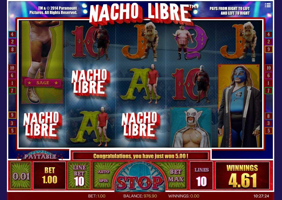 Bonus Slot Machine Nacho Libre